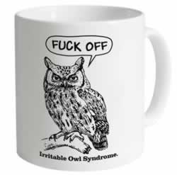 Shot Dead In The Head Irritable Owl Syndrome mug