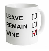 Shot Dead In The Head Leave Remain Wine Mug