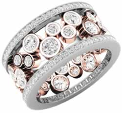 Purely Diamonds Round Brilliant Cut Diamond Set Ladies Wedding Dress Ring crafted in 18ct white and rose gold PD668RW