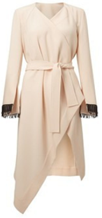 Roland Mouret Pre Fall 2017 Studham Coat in Blush