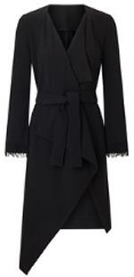 Roland Mouret Studham Coat Black