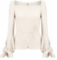 Roland Mouret Wicklow Top in white
