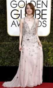 Emma Stone Winner Golden Glove 8 Jan 2017