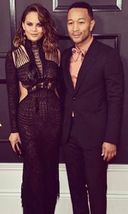 Grammys 2017 Chrissy Teigen and John Legend