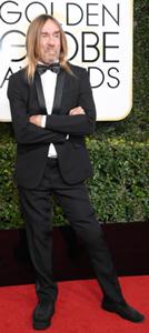 Iggy Pop at The Golden Globe Awards 8 Jan 2017
