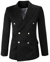 Amazon Black Flatseven Double Breasted Jacket