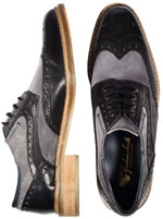 Goodwin Smith Weir Black and Grey Brogues