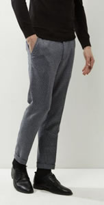New Look Houndtooth Cropped Trousers