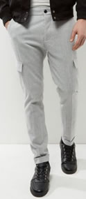 New Look Light Grey Cargo Trousers