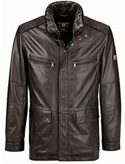 Peter Hahn Bugatti Brown Leather Jacket