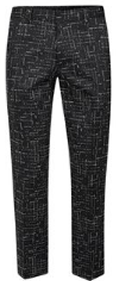 Topman Black Broken Check Cropped Skinny Fit Smart Trousers