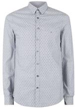 Topman Calvin Klein Navy and White Pinstripe CK Shirt