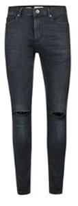 Topman Dark Ripped Skinny Jeans