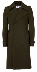 Topman Khaki Trench Coat