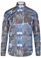 Jiggler Lord Berlue Aubrey Blue Floral Shirt