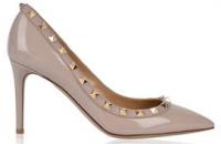 Fashion Valentino Patent 85 Rockstar Studded Court Shoes