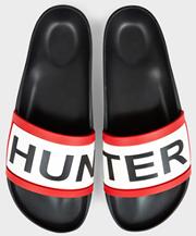 Hunter Slides Black Sliders