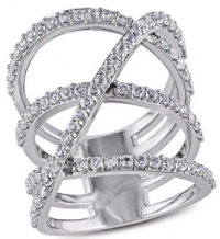 Fashion Jewellery Sterling Silver white topaz Sofia ring