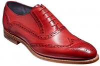 Mens Footwear Robinsons shoes Barker Valiant red hand painted leather