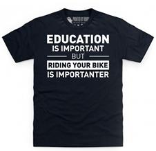 Riding Bike Education Fun T Shirt