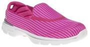 Hot Pink Skechers Go Walk 3 trainers