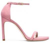 Fashion Stuart Weitzman Iconic Nudist Song pink or blue stiletto Sandals