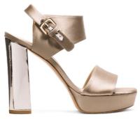 Fashion Stuart Weitzman Partisan platform shoes in suede and satin