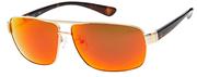Nautica Gold Tone Aviator Sunglasses