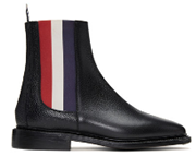 Thom Browne Black and Tri-Colour Chelsea Boots
