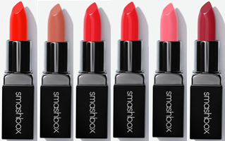 Smashbox Lipsticks Fireball Matte - Latte - Mandarin Cream - Grenadine - Paris Pink - Mulberry