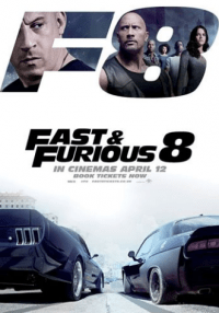Film Movie Poster Fast and Furious 8 aka The Fate Of The Furious