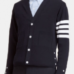 Fashion Thom Browne designer v neck cardigan