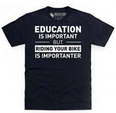 Riding Bike Education Fun T Shirt