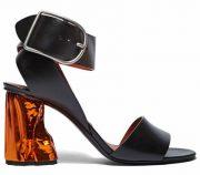 Acne Studios Metallic Bronze Heeled Sandals