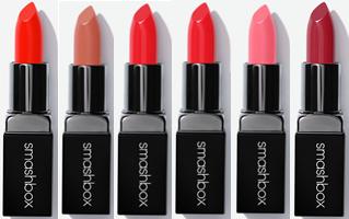 Smashbox Lipsticks Fireball Matte - Latte - Mandarin Cream - Grenadine - Paris Pink - Mulberry