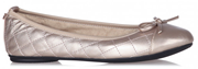 Butterfly Twists Olivia Rose Gold Ballet Pump