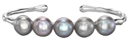 Dower and Hall Sterling Silver and Pearl Luna Bracelet