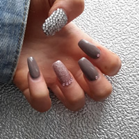 Nails with DIY Bling