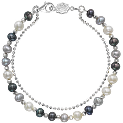 Dower and Hall Orisso Bracelet Sterling Silver and Mixed Pearls