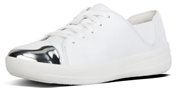 White Sporty Hi Fashion lace up trainers