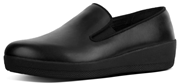 Back To School FitFlop SuperSkate Skater Leather all black Loafer