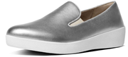 FitFlop SuperSkate Leather Slip on Loafers