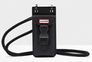 Hunter Rubberised Phone Case Pouch Black