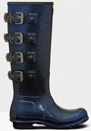 Hunter Original Tall Wellington Boots Blue Mercury Starcloud