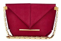 Roland Mouret Mini Classico Bag in Claret