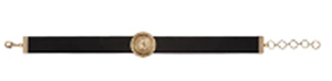 Balmain Black Leather Coin Choker