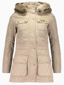 Barbour Enduro Diamond Quilted Taupe Jacket