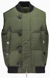 Dsquared2 Varcity collar down gilet in olive