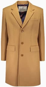 Vivienne Westwood Man slim fit wool trench coat in tan
