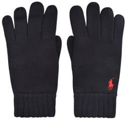 Concept by Cruise Polo Ralph Lauren Ribbed Gloves in Hunter Blue